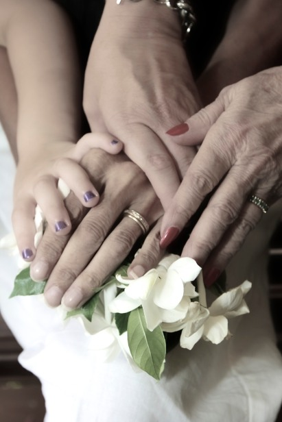 4 generations of hands