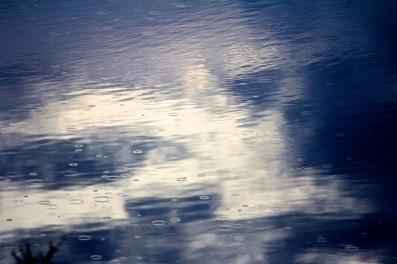 Rain on water