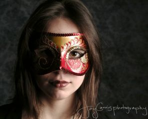 The girl behind the mask