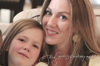 Beautiful Mom and Daughter